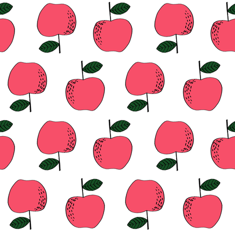 apple // apples fall autumn orchards kids fruit fruits fabric by andrea_lauren on Spoonflower - custom fabric