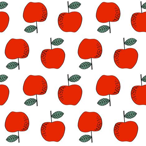 apple // apples red apple kids sweet fruit fruits vegan fabric by andrea_lauren on Spoonflower - custom fabric