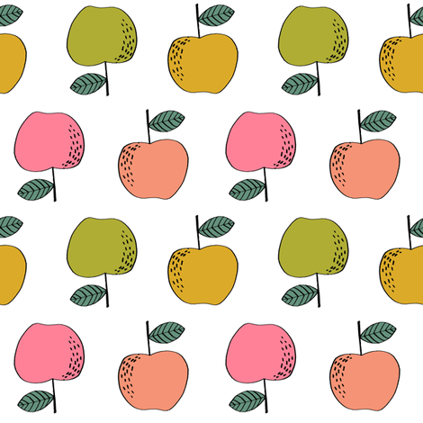apples // apple kids fruit fruits fall autumn  fabric by andrea_lauren on Spoonflower - custom fabric