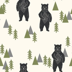 forest bear // camping bear trees forest woodland bears
