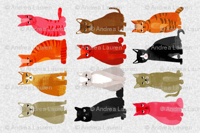 tea towel // light cats kittens cute pets design
