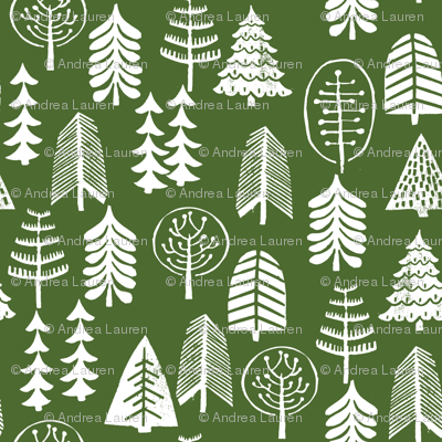 christmas tree // green christmas xmas holiday forest woodland