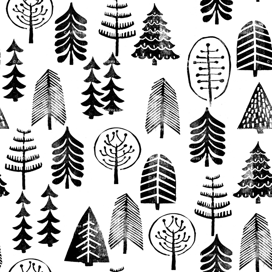 Christmas Trees Black And White Christmas Trees Forest Woodland
