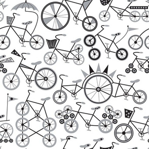 Wacky Bicycles (Monochrome)