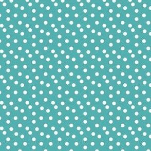 dots // tiffany blue aqua turquoise dots spots white cute baby nursery