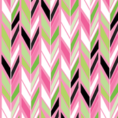 Pointing South with Pink & Green
