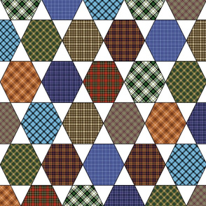 Flannel Shirt Hex Cheater Quilt
