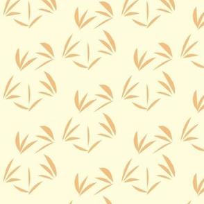 Dusky Apricot Oriental Tussocks on Magnolia Cream