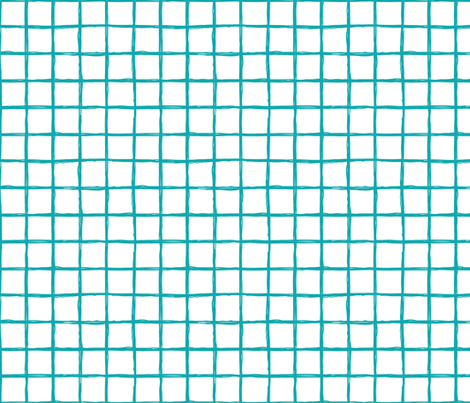 Abstract geometric blue and white checkered square stripe trend pattern grid fabric by littlesmilemakers on Spoonflower - custom fabric
