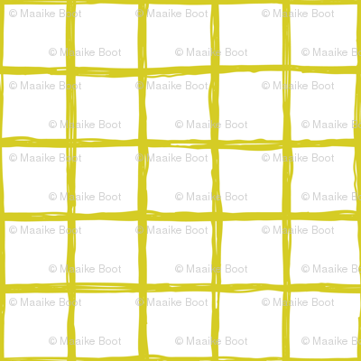 Abstract geometric yellow and white checkered square stripe trend pattern grid