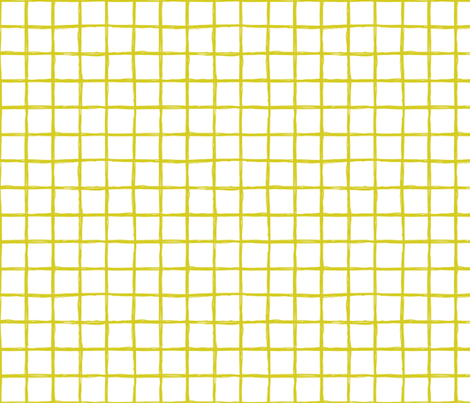 Abstract geometric yellow and white checkered square stripe trend pattern grid fabric by littlesmilemakers on Spoonflower - custom fabric