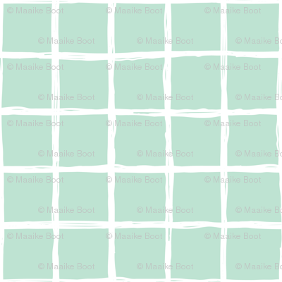 Abstract geometric mint square checkered stripe trend pattern grid