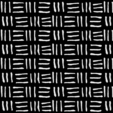 Mudcloth // Black  fabric by thinlinetextiles on Spoonflower - custom fabric