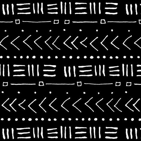 Tribal Bands - Black // Small fabric by thinlinetextiles on Spoonflower - custom fabric
