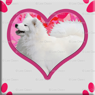 Samoyed Hearts and Paws