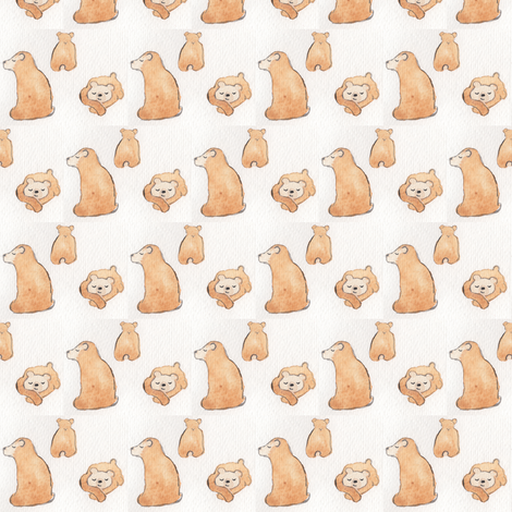 Little Bears fabric by lilafrances on Spoonflower - custom fabric