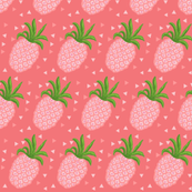 Coral Pineapple // pineapples //  Summer triangles in coral