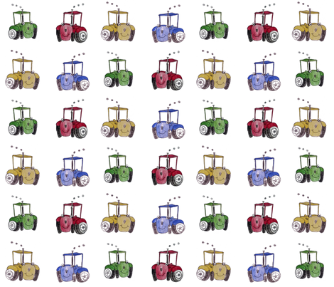 Tractors fabric by chavamade on Spoonflower - custom fabric