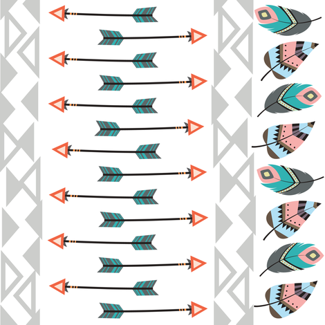 Tribal Arrows fabric by rocky_rocks_designs on Spoonflower - custom fabric