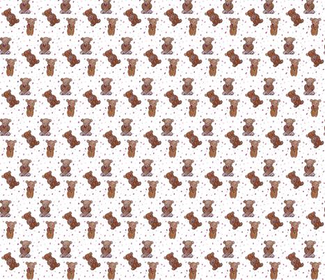 Girly Teddy Bears fabric by chavamade on Spoonflower - custom fabric