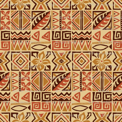 Tiki Tapa Cloth