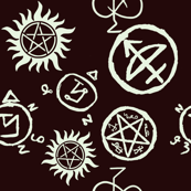 Supernatural Symbols White on Black
