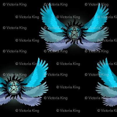 Supernatural Blue Angel Wings