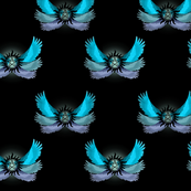 Supernatural Blue Angel Wings