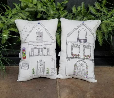 Cut and Sew Home Sweet Home House Pillow Plushie