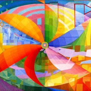 rainbow colorful pinwheel windmill flowers abstract colourful