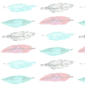 Pastel Feathers - pink