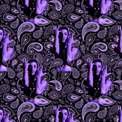 Purple rain paisley