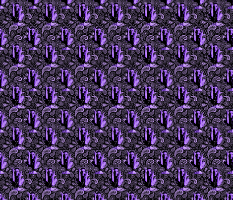 Purple rain paisley  fabric by hollywood_royalty on Spoonflower - custom fabric