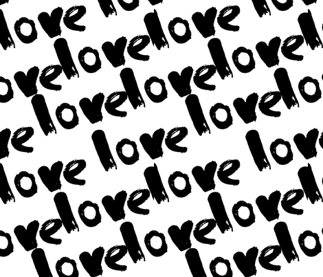 love pattern  fabric by holaholga on Spoonflower - custom fabric