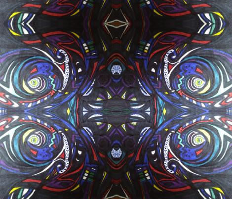 Kats colors of black fabric by katstract_ on Spoonflower - custom fabric