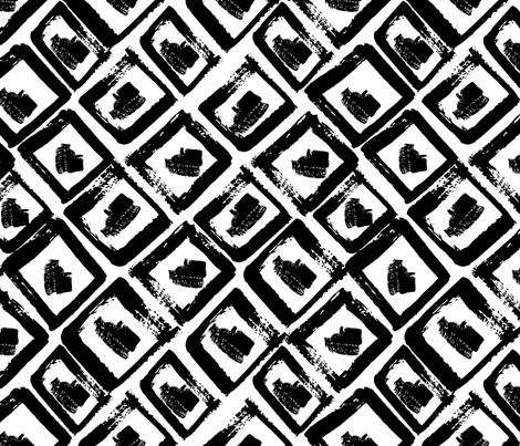 ethnic grunge ornament fabric by holaholga on Spoonflower - custom fabric