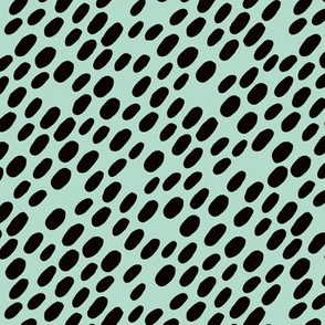 Animal dalmatian skin spots and dots scandinavian style design abstract circle black mint