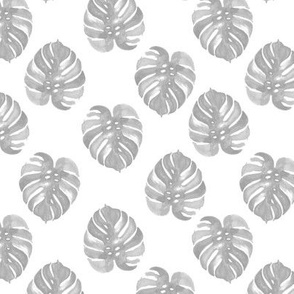 tropical palm print monstera kids grey watercolors palms tropical