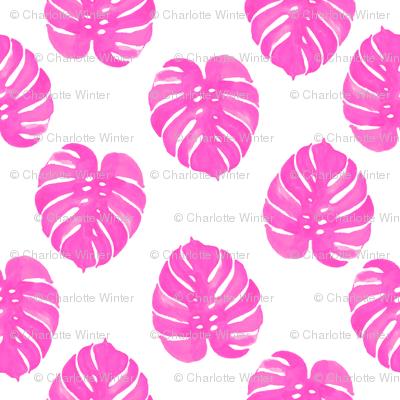 palm print tropical pink watercolor palm prints cute summer