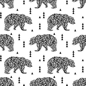 black and white geo bear bear kids nursery triangles geo boys
