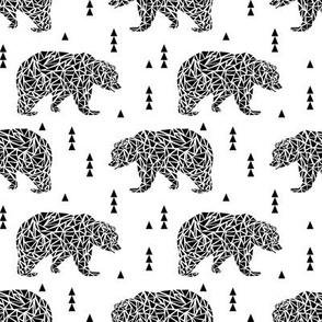 black and white geo bear bear kids nursery triangles geo boys