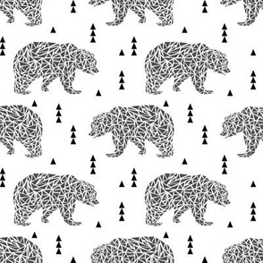 geo bear geometric bear boys nursery charcoal kids scandi kids