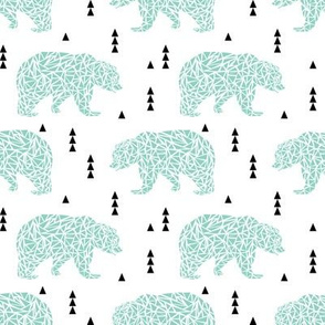 mint bear bear geo geometric triangles kids boys nursery