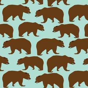 bear brown bear outdoor forest kids nursery boys