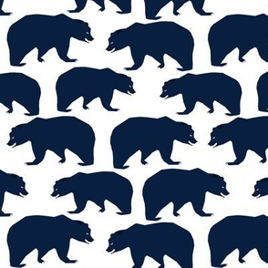 navy blue bear kids boys nursery woodland camping