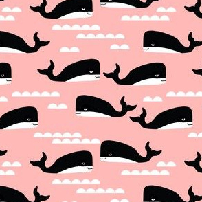 whales whale pink girls ocean sweet animals scandi simple cute kids