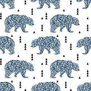 navy blue bear kids bears geo geometric boys nursery