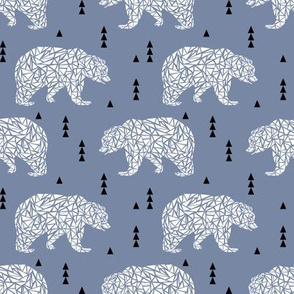 bear kids boys grey blue kids triangle boys nursery