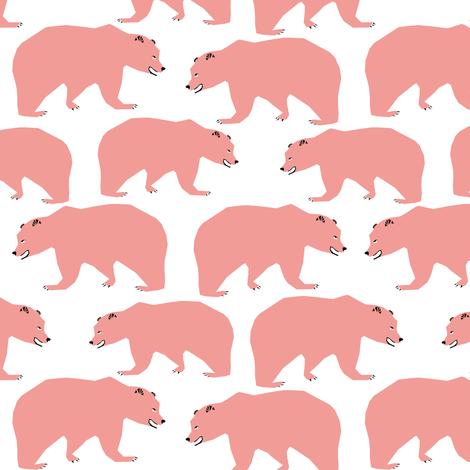 bear bears pink kids sweet bears pink bears for girls fabric by charlottewinter on Spoonflower - custom fabric
