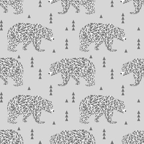 bear bears grey geo triangles kids boys nursery